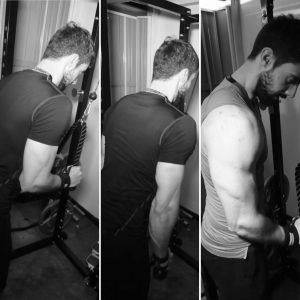 cable tricep pressdown to get bigger arms as an ectomorph